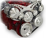 C2 C3 Corvette 1963-1982 Revolver Alternator, A/C w/ Optional Power Steering Serpentine System - Small Block