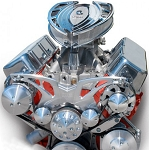C3 Corvette 1968-1982 Style Track Alternator, A/C & Power Steering Serpentine System - Big Block - All Inclusive Kit