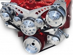 C3 Corvette 1968-1982 Revolver Chrome Alternator & Power Steering Serpentine System - All Inclusive Kit