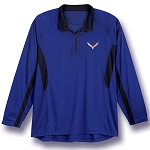 C7 Corvette 2014-2019 Surf & Flint Quarter-Zip Color Block Pull-Over