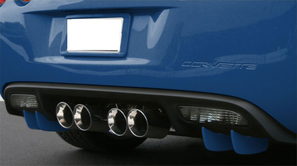 C6 Corvette 2005-2013 Rear Fascia Diffuser Fins - Custom Painted