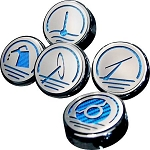 Gen 5 Camaro V6 / V8 2010-2015 Chrome Engine Fluid Cap Cover Set - Multiple Colors
