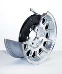 2008-2009 Jeep Wrangler JK Alloy Brake Dust Cover 5 Spoke Design - Pair - Size Option