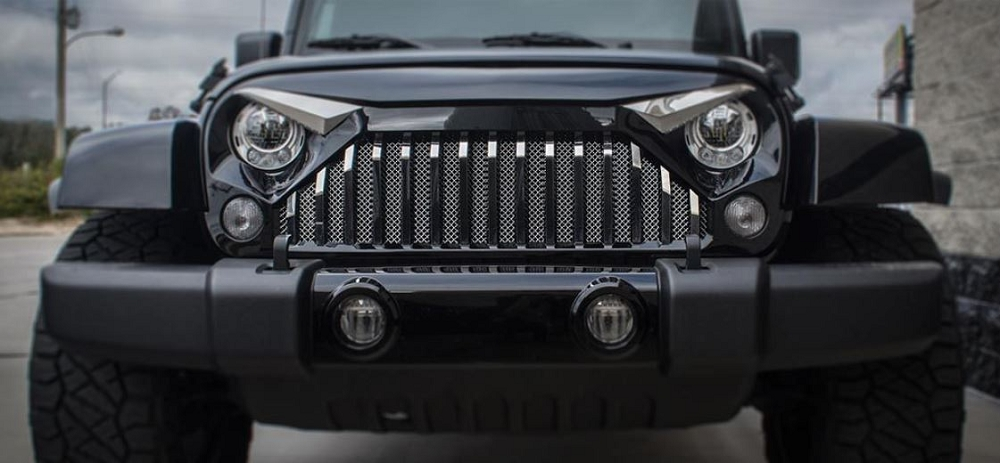 Auto Touch Up Paint >> 2007-2018 Jeep Wrangler JK w/ Gladiator Grille - Front ...
