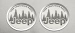 2007-2018 Jeep Wrangler JK Find Your Own Road Badges - 2 Pieces
