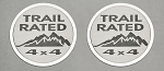 2007-2018 Jeep Wrangler JK Trail Rated Badges - 2 Pieces