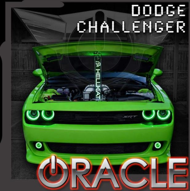 2015-2018 Dodge Challenger Oracle LED Projector Waterproof ...