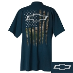 Chevrolet Camo Accent American Flag T-Shirt
