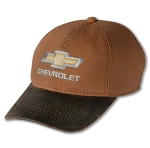 Chevrolet Gold Bowtie Canvas Weathered Cotton Cap