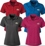 Ladies' Chevrolet Gold Bowtie Ice Pique Polo w/ Size & Color Options