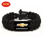 Chevrolet Gold Bowtie Survival Bracelet