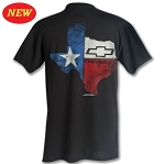 Texas State Chevrolet Bowtie T-Shirt w/ Size Options