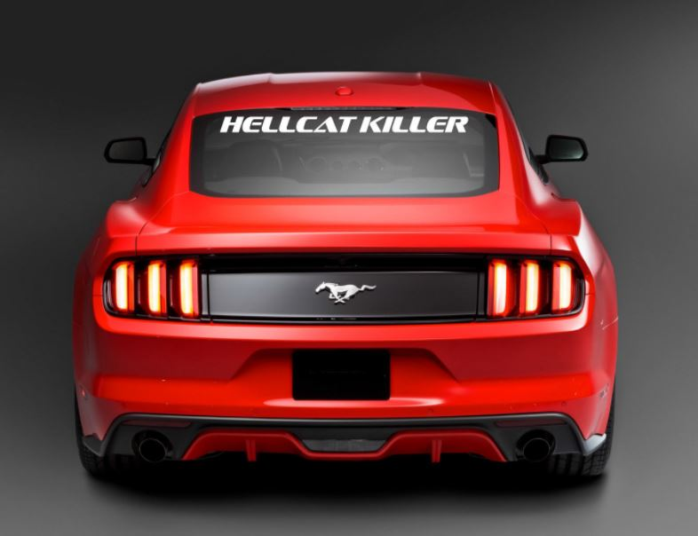 Blue Ford Raptor >> Ford Mustang / Chevrolet Camaro HELLCAT KILLER Script Windshield Decal - Color Options