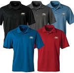 Men's Chevrolet Gold Bowtie Ice Pique Polo  w/ Size & Color Options