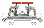 1984-1989 Porsche 911 Carrera 3.2L RSR Header Kit With Heat - Competition Muffler Outlets - Sport Cats Selection