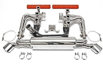 1976-1983 Porsche 911 Carrera 3.0L RSR Header Muffler Kit With Heat - Deluxe Oval Style Tips - Sport Cats Selection