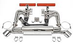 1984-1989 Porsche 911 Carrera 3.2L RSR Header Kit With Heat - Deluxe Oval Style Tips - Sport Cats Selection