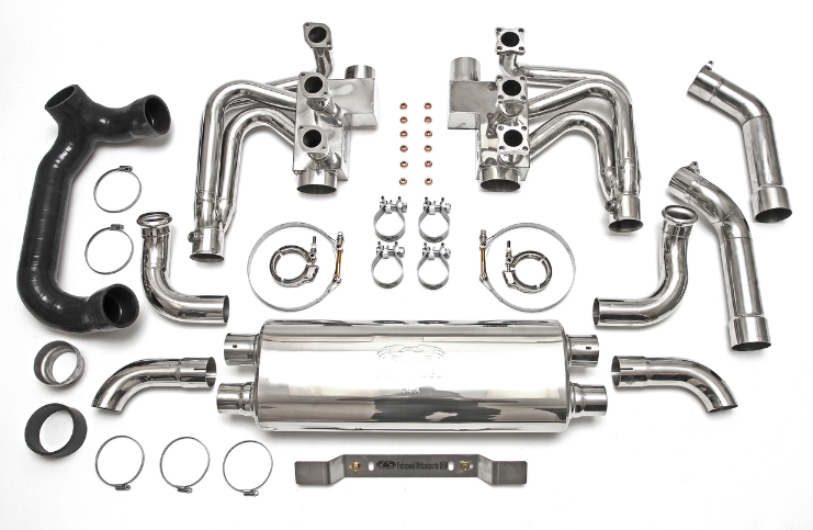 1989-1994 Porsche 964 Carrera RSR Header Muffler Kit without Heat & with Competition Muffler Outlets - Sports Cats Selection