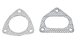 1994-1998 Porsche 993 Carrera Gaskets w/ Hardware - Flange Style Selection