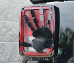 2007-2018 Jeep Wrangler JK / JKU Wave Hand Style Taillight Covers - 2 pieces - Finish Options