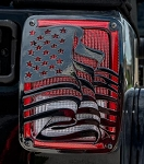 2007-2018 Jeep Wrangler JK / JKU US Flag Style Taillight Covers - 2 pieces - Finish Options