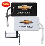Chevrolet Bowtie Luggage Tag - White or Black - Gold Bowtie