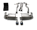 2015+ Ford Mustang GT Coyote ARMYTRIX Stainless Steel Valvetronic Catback Exhaust System - Tip Finish Options