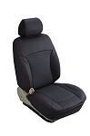 Universal Leatherette Plain Designed Seat Covers 2pc Double Cap W/ Head Rest Covers - Color Options