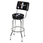 Ford Mustang Bar Stool w/ Back Rest
