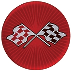C3 Corvette 1968-1982 Red Cross Flag Wheel Decals - Complete Set of 4