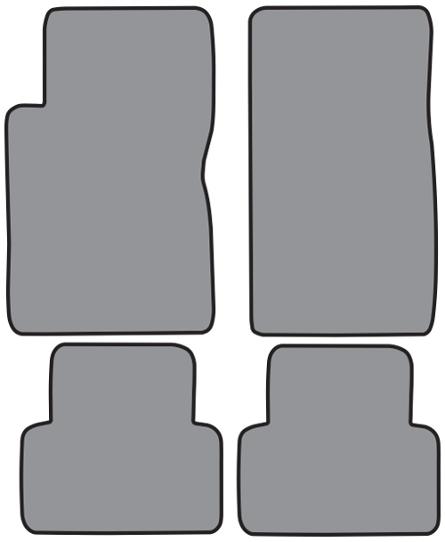 2003-2007 Cadillac CTS Cutpile Floor Mats With Signature