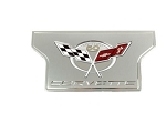 C5 Corvette Base/Z06 1997-2004 Exhaust Plate - Billet Chrome with 50th Anniversary Logo