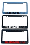 Subaru Brand Script License Plate Frame - Color/Finish Selections