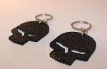 C6 Corvette 2005-2013 Jake Skull Racing Punisher Emblem Key Chain w/ Color Options for Teeth and Eyes