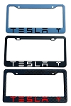 Tesla Brand Script License Plate Frame - Color/Finish Selections
