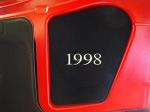 C5 Corvette 1997-2004 Engine Hood Insert Monogrammed - Logo & Year Options
