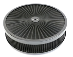 C3 Corvette 1968-1982 Super Flow 14in Air Cleaner Assembly w/ Black Edge