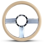 Linear Billet Steering Wheel w/ Clear Coat Spokes - Color Options