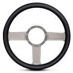 Linear Billet Steering Wheel  w/ Clear Anodized Spokes - Color Options