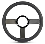 Linear Billet Steering Wheel w/ Gloss Black Spokes - Color Options