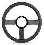 Linear Billet Steering Wheel w/ Black Anodized Spokes - Color Options