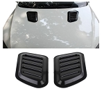 Black Plastic Decorative Vent Hood Decal - 2 pcs