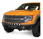 2010-2014 Ford F-150 Raptor Addictive Desert Designs Race Series R Front Bumper Aluminum Valence w/ 10 Single Lights Mounts