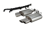 2013-2014 Mustang GT Ford Performance Axle-Back Quad Tip Mufflers w/ Rear Lower Valance