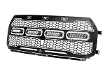 2017-2020 Ford Raptor aFe Scorpion Complete Replacement Grille Tread Design w/ LED Lights - Black