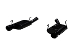 2005-2010 Ford Mustang GT V8 Pypes Performance Phantom Black Violator Axle-Back Exhaust System w/ Tips