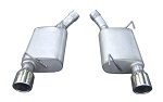 2005-2010 Ford Mustang GT V8 Pypes Performance Stainless Steel Violator Axle-Back Exhaust System w/ Polished Tips