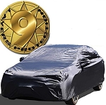 C2 C3 C4 C5 C6 Corvette 1963-2013 Breathable 9-Layer Outdoor/Indoor Large Black Car Cover - Waterproof & UV Resistant