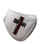 Heroes Cross Face Mask - Single Logo Selection - White or Black