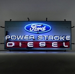 Ford Power Stroke Diesel Neon Sign - 32w x 15h x 4d